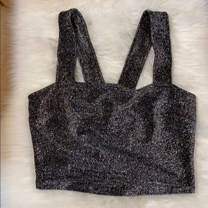 Leith sparkly crop top